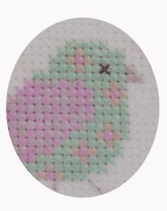 Trimits With Hoop Felt Cross Stitch