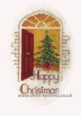 Warm Welcome Christmas Card Cross Stitch Kit