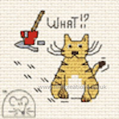 What !? Biscuit The Cat Cross Stitch Kit