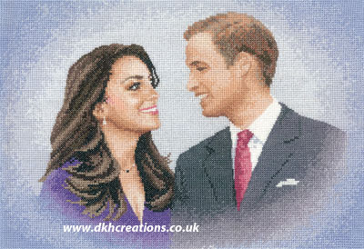 William and Catherine Cross Stitch Kit