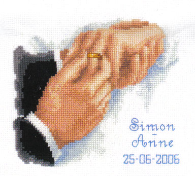 With This Ring Wedding Sampler Cross Stitch Kit