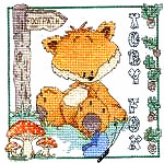 Woodland Folk Toby Fox Cross Stitch Kit
