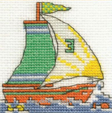 Yacht Mini Cross Stitch Kit