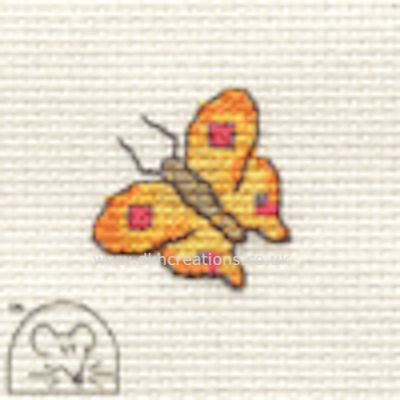 Yellow Butterfly Tiddlers Cross Stitch Kit