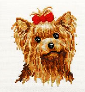 Yorkshire Terrier Cross Stitch Kit
